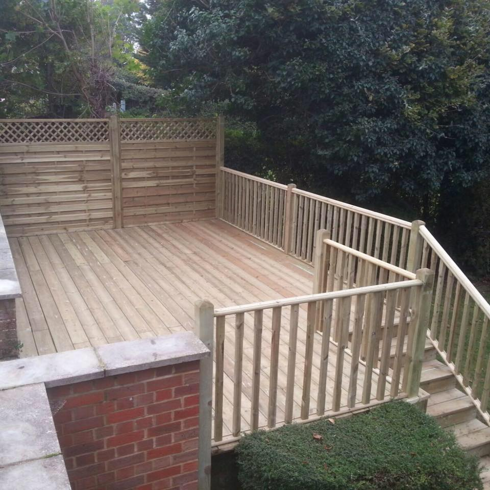Raised decking in High Wycombe, Bucks