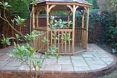 Wooden Pagoda and Terrace Decking